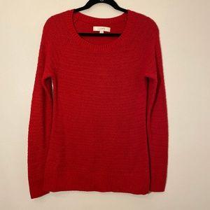 Ann Taylor LOFT | Red Knit Sweater Size M